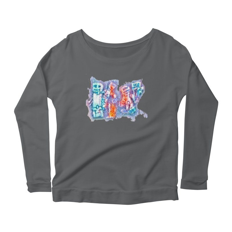 Robot Friends Women's Scoop Neck Longsleeve T-Shirt by Artdrips's Artist Shop