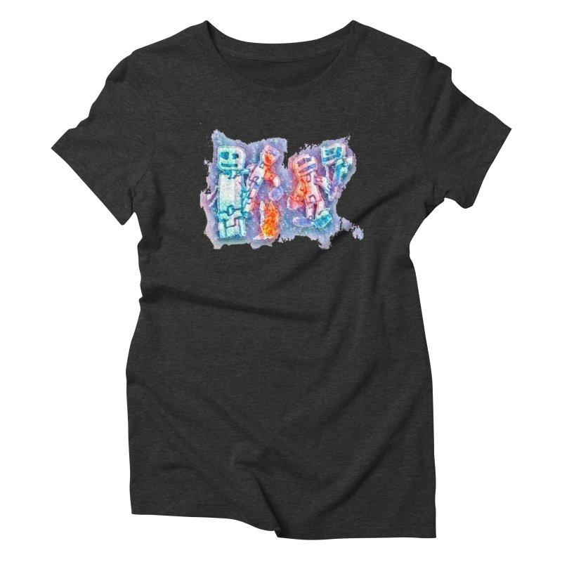 Robot Friends Women's Triblend T-Shirt by Artdrips's Artist Shop