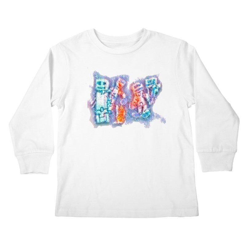 Robot Friends Kids Longsleeve T-Shirt by Artdrips's Artist Shop