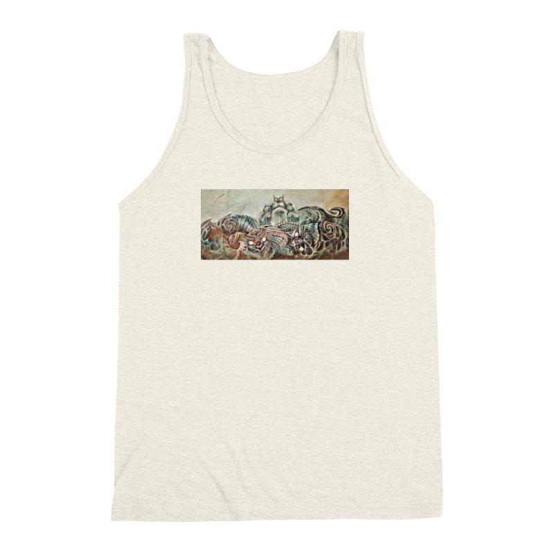 Tu Tangata Men's Triblend Tank by Artdrips's Artist Shop