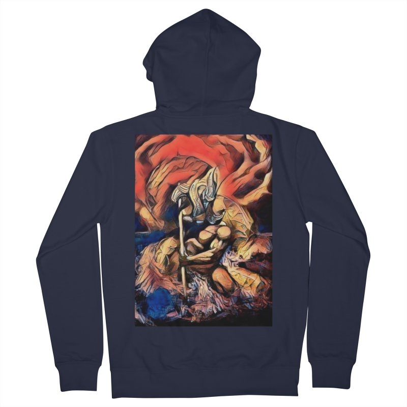 Battle at sea Men's French Terry Zip-Up Hoody by Artdrips's Artist Shop