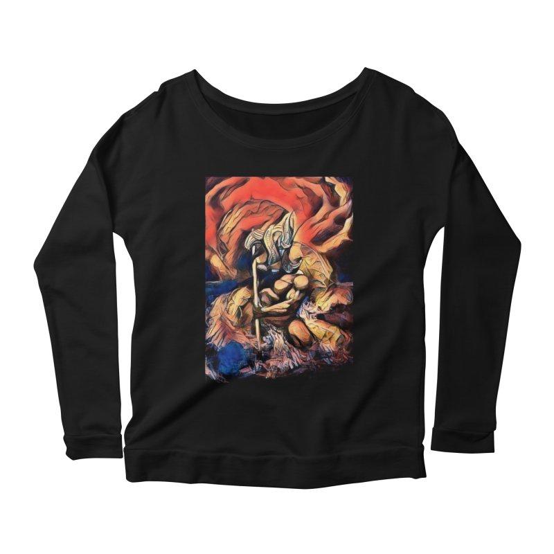 Battle at sea Women's Scoop Neck Longsleeve T-Shirt by Artdrips's Artist Shop