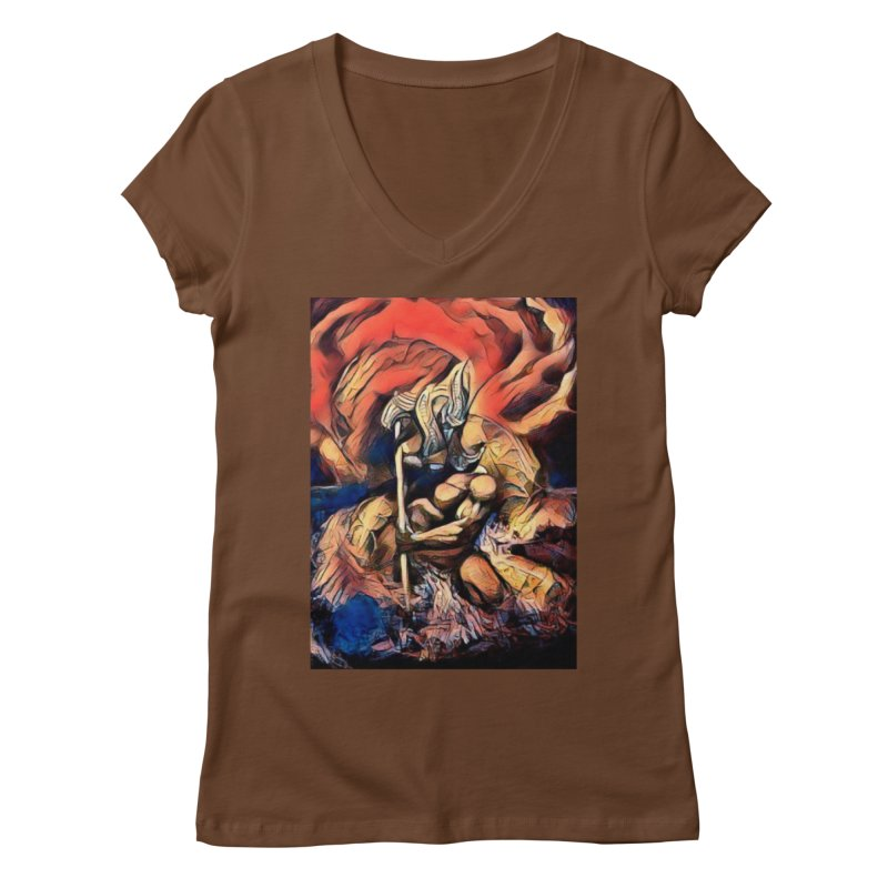 Battle at sea Women's Regular V-Neck by Artdrips's Artist Shop