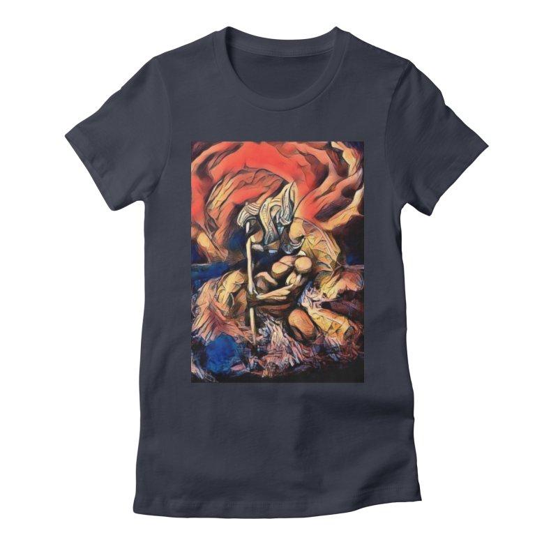 Battle at sea Women's Fitted T-Shirt by Artdrips's Artist Shop
