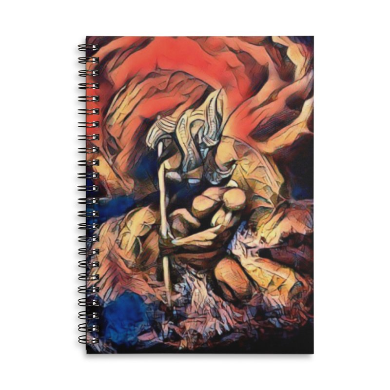 Battle at sea Accessories Lined Spiral Notebook by Artdrips's Artist Shop