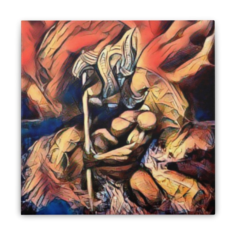 Battle at sea Home Stretched Canvas by Artdrips's Artist Shop