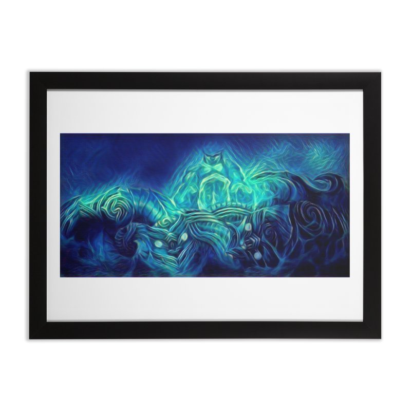 Mythical creatures Home Framed Fine Art Print by Artdrips's Artist Shop
