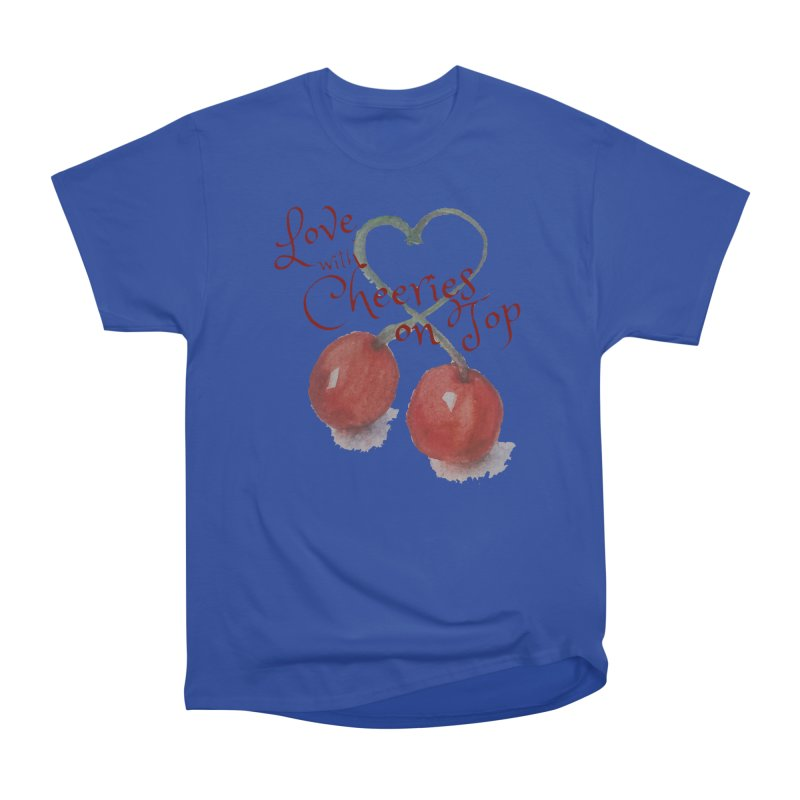 Love with Cherries on Top Men's Heavyweight T-Shirt by Artdrips's Artist Shop