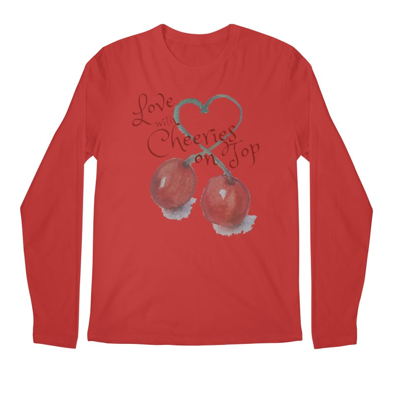 Love with Cherries on Top Men's Regular Longsleeve T-Shirt by Artdrips's Artist Shop