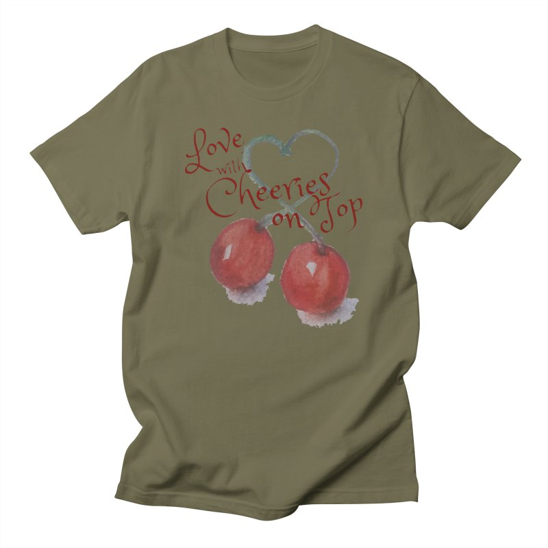 Love with Cherries on Top Women's Regular Unisex T-Shirt by Artdrips's Artist Shop