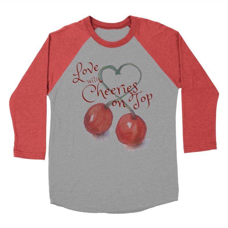 Love with Cherries on Top Women's Baseball Triblend Longsleeve T-Shirt by Artdrips's Artist Shop