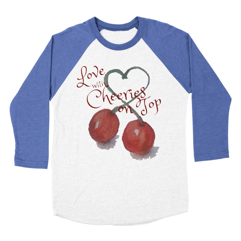 Love with Cherries on Top Men's Baseball Triblend Longsleeve T-Shirt by Artdrips's Artist Shop