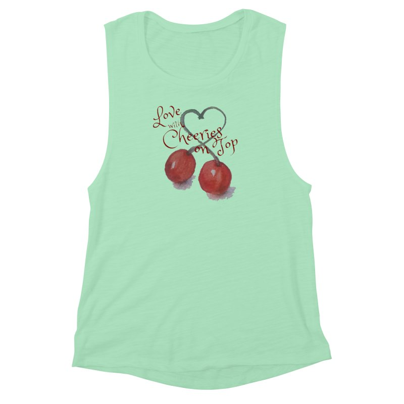 Love with Cherries on Top Women's Muscle Tank by Artdrips's Artist Shop