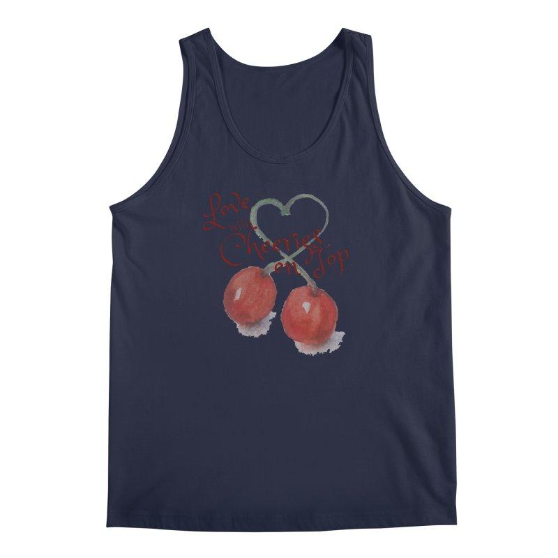 Love with Cherries on Top Men's Regular Tank by Artdrips's Artist Shop
