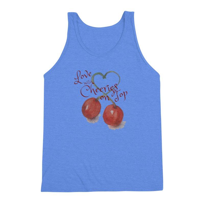 Love with Cherries on Top Men's Triblend Tank by Artdrips's Artist Shop