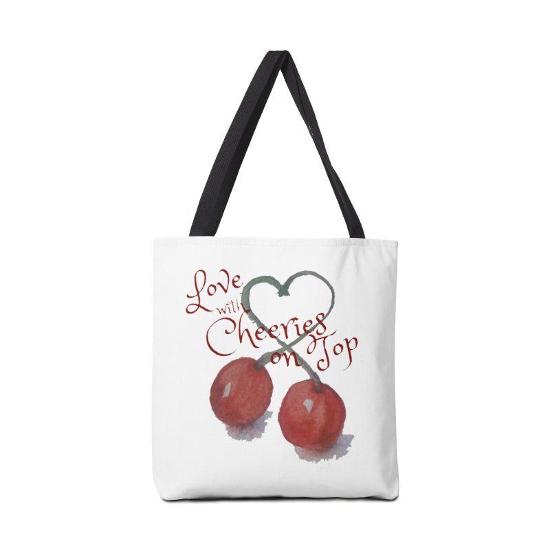Love with Cherries on Top Accessories Bag by Artdrips's Artist Shop