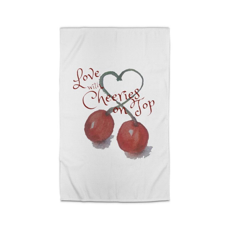 Love with Cherries on Top Home Rug by Artdrips's Artist Shop