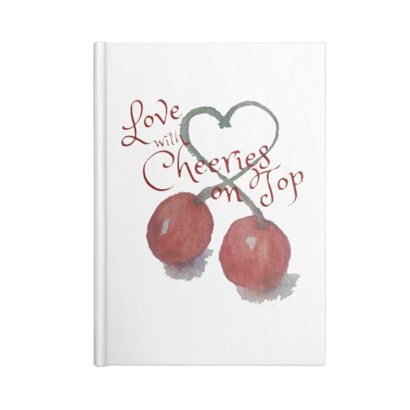 Love with Cherries on Top Accessories Notebook by Artdrips's Artist Shop