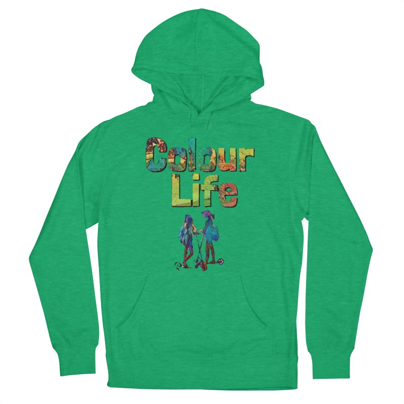 Colour Life Women's French Terry Pullover Hoody by Artdrips's Artist Shop