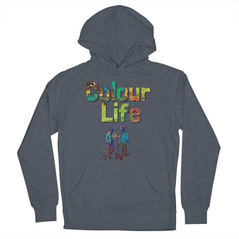 Colour Life Men's French Terry Pullover Hoody by Artdrips's Artist Shop