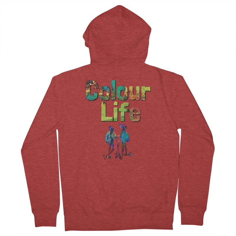 Colour Life Women's French Terry Zip-Up Hoody by Artdrips's Artist Shop