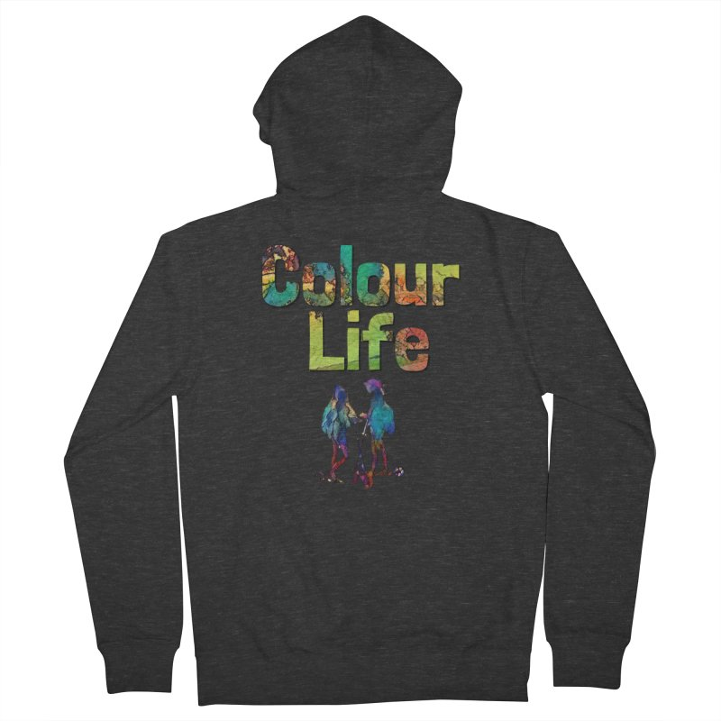 Colour Life Men's French Terry Zip-Up Hoody by Artdrips's Artist Shop