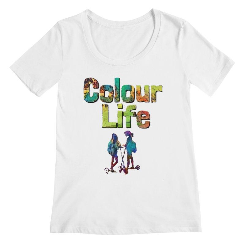 Colour Life Women's Regular Scoop Neck by Artdrips's Artist Shop