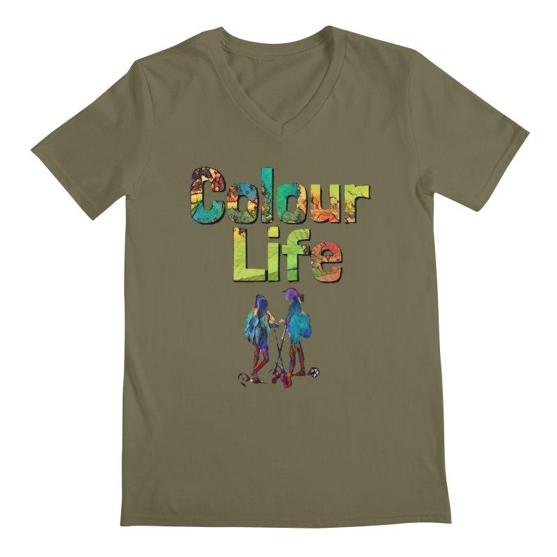Colour Life Men's Regular V-Neck by Artdrips's Artist Shop
