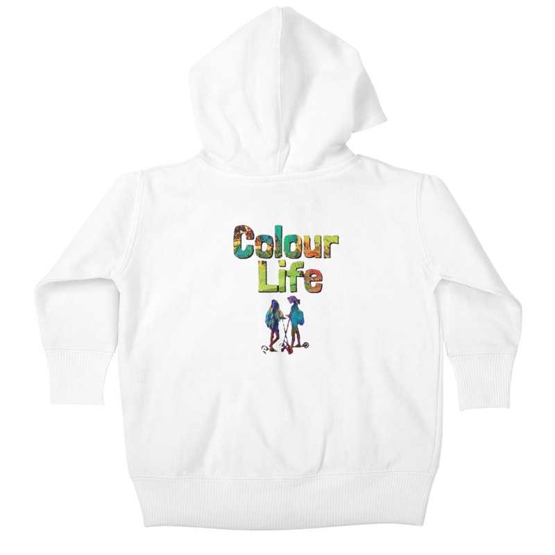 Colour Life Kids Baby Zip-Up Hoody by Artdrips's Artist Shop