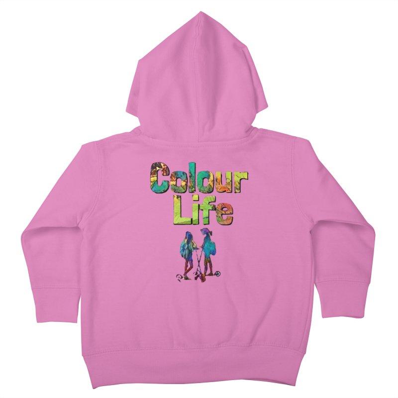 Colour Life Kids Toddler Zip-Up Hoody by Artdrips's Artist Shop