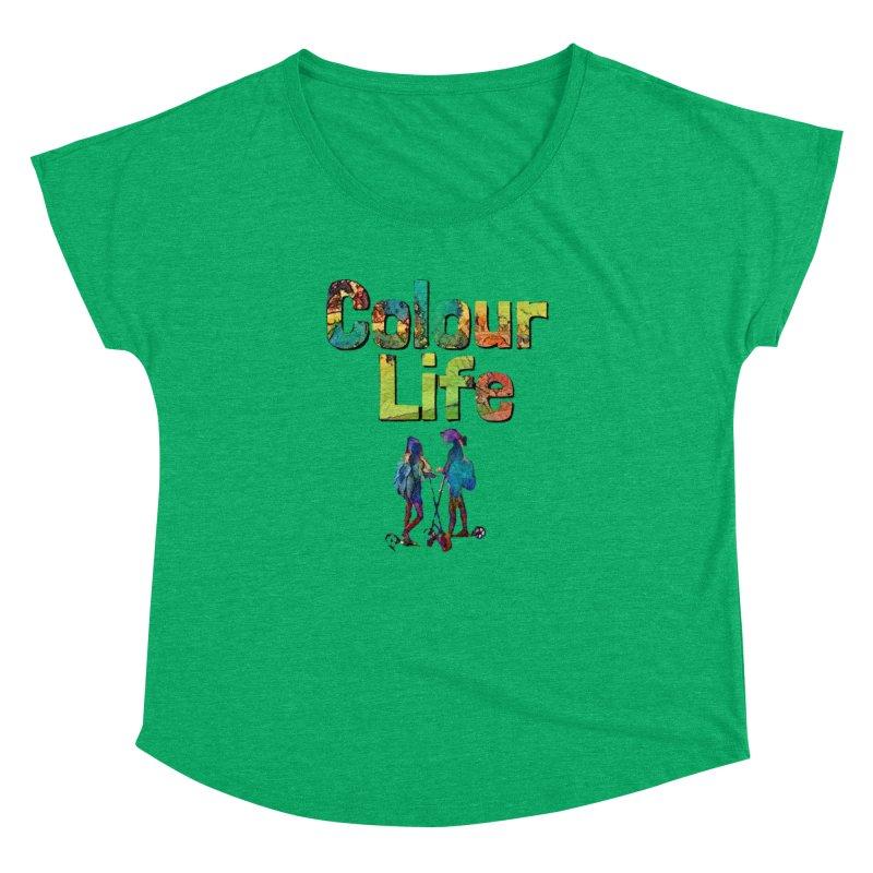 Colour Life Women's Dolman Scoop Neck by Artdrips's Artist Shop