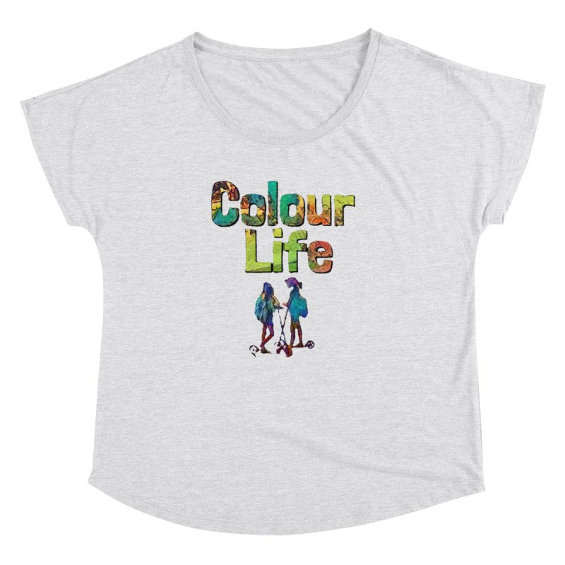 Colour Life Women's Dolman Scoop Neck by Artdrips's Artist Shop