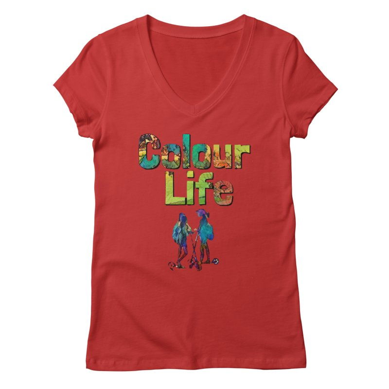 Colour Life Women's Regular V-Neck by Artdrips's Artist Shop