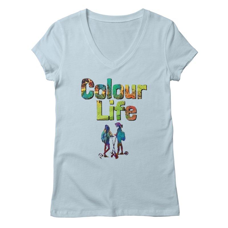 Colour Life Women's Regular V-Neck by Artdrips's Artist Shop