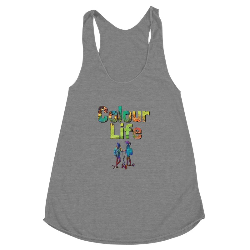 Colour Life Women's Racerback Triblend Tank by Artdrips's Artist Shop