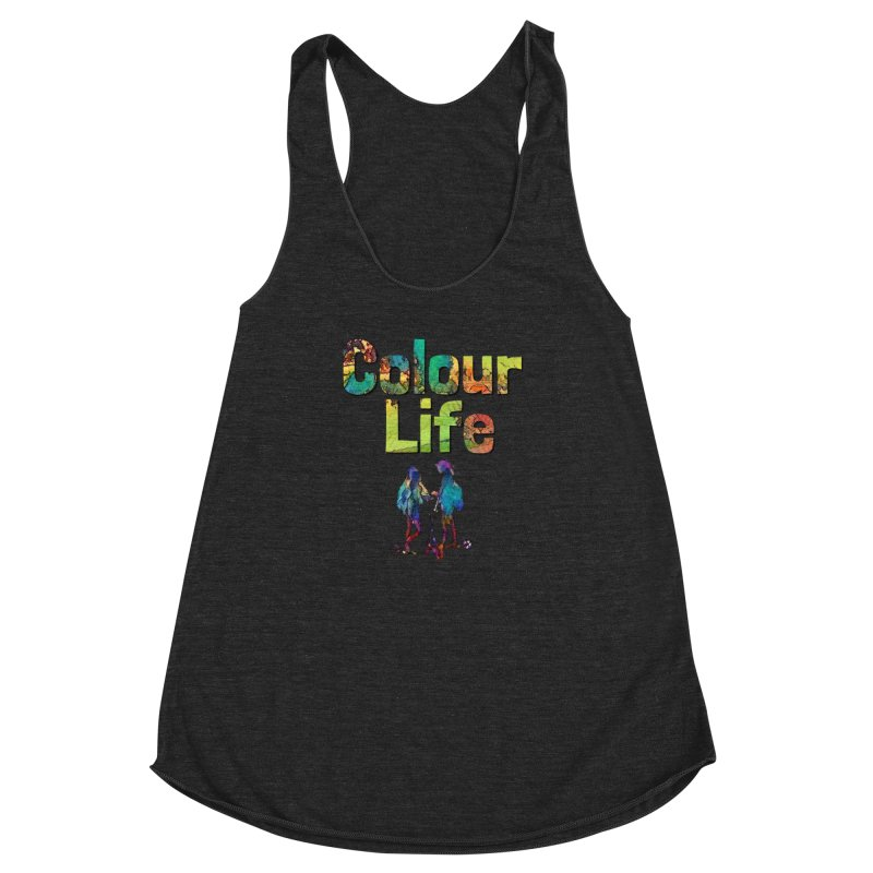 Colour Life Women's Racerback Triblend Tank by Artdrips's Artist Shop