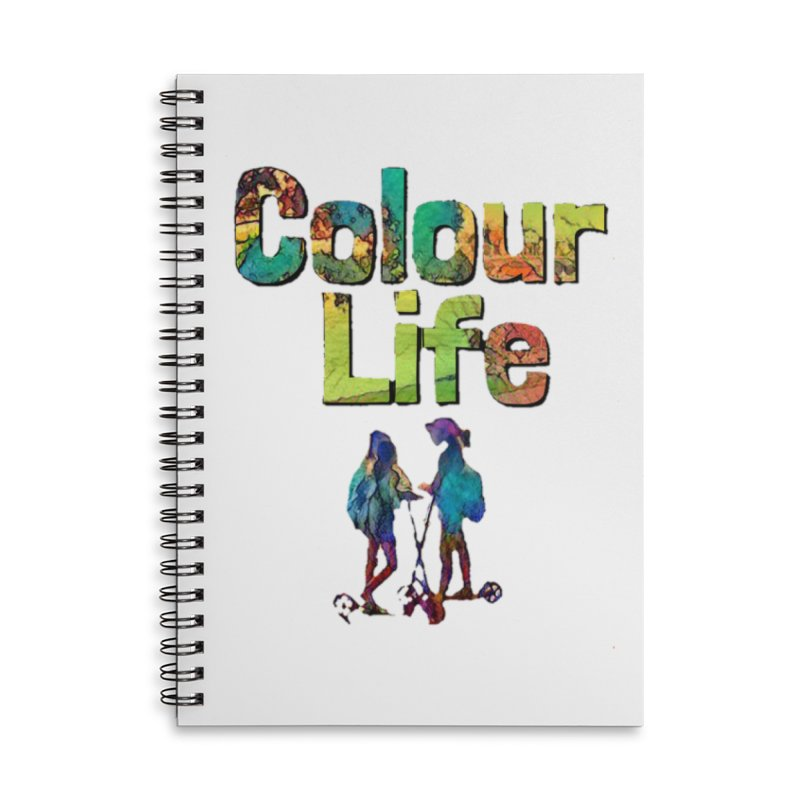Colour Life Accessories Lined Spiral Notebook by Artdrips's Artist Shop