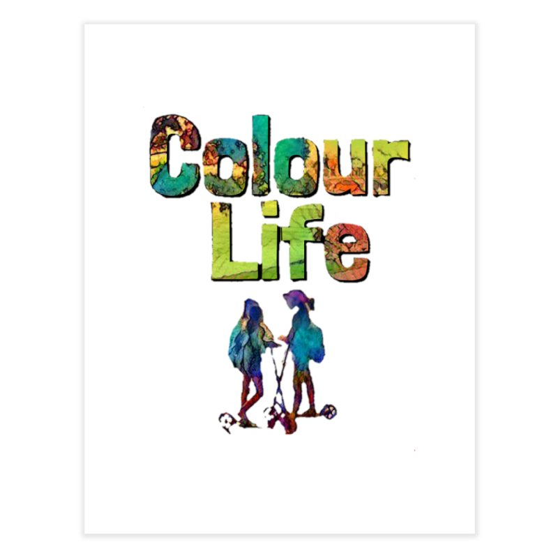 Colour Life Home Fine Art Print by Artdrips's Artist Shop