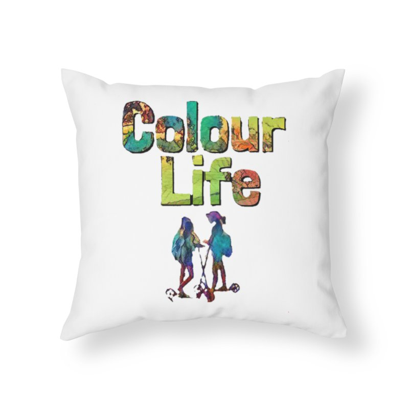 Colour Life Home Throw Pillow by Artdrips's Artist Shop
