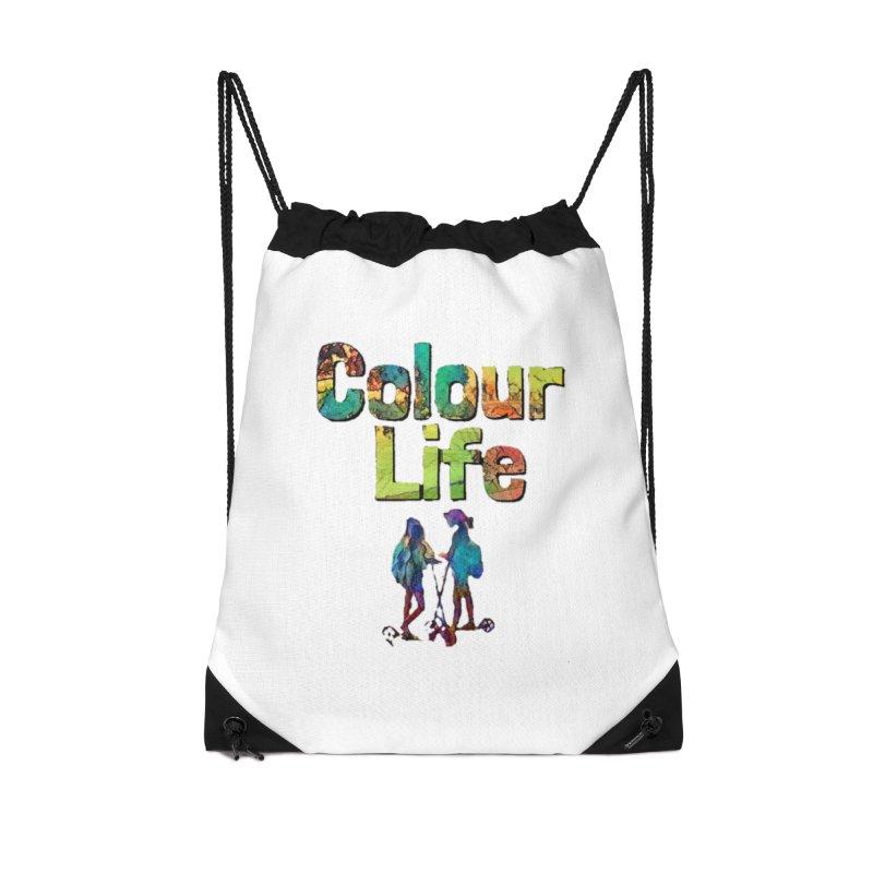 Colour Life Accessories Drawstring Bag Bag by Artdrips's Artist Shop