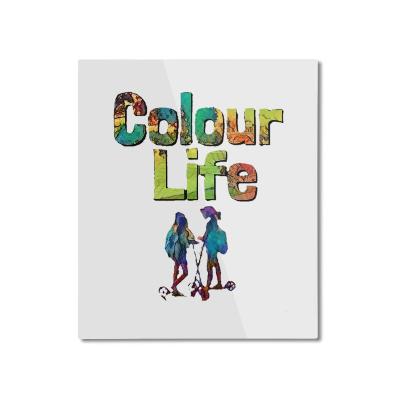 Colour Life Home Mounted Aluminum Print by Artdrips's Artist Shop