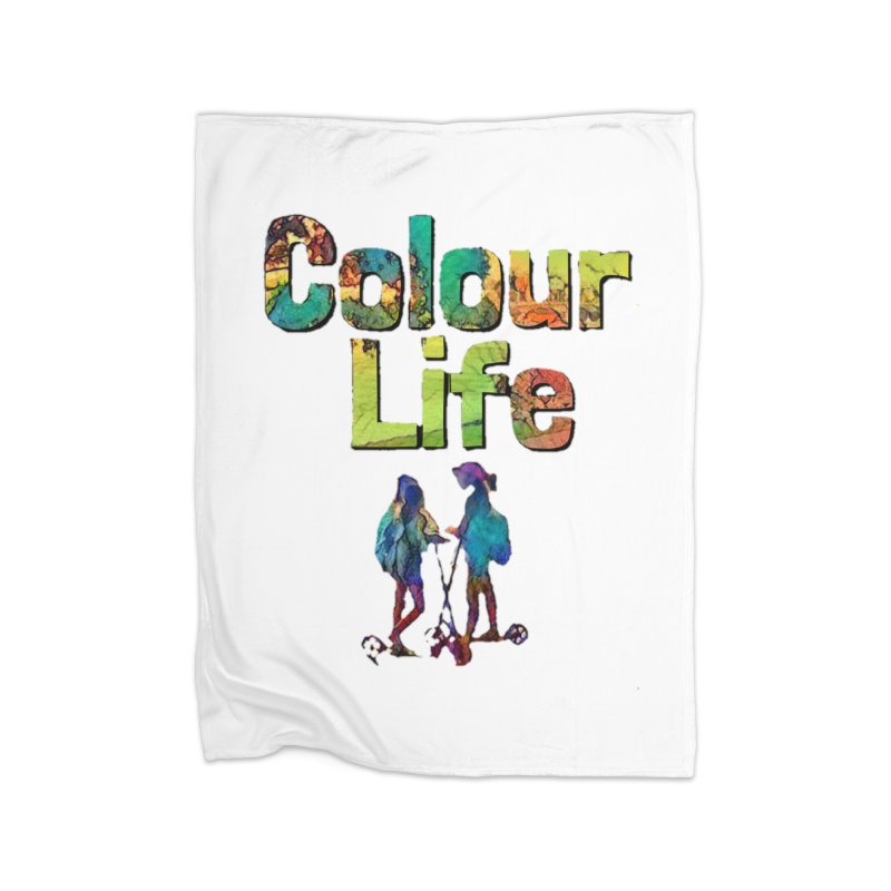 Colour Life Home Fleece Blanket Blanket by Artdrips's Artist Shop