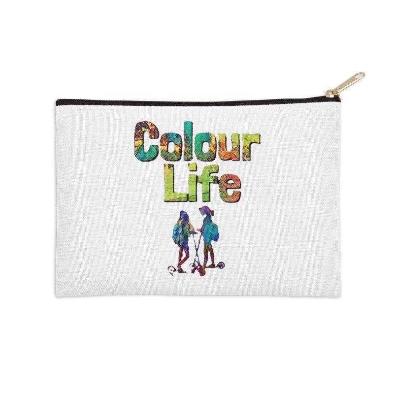 Colour Life Accessories Zip Pouch by Artdrips's Artist Shop