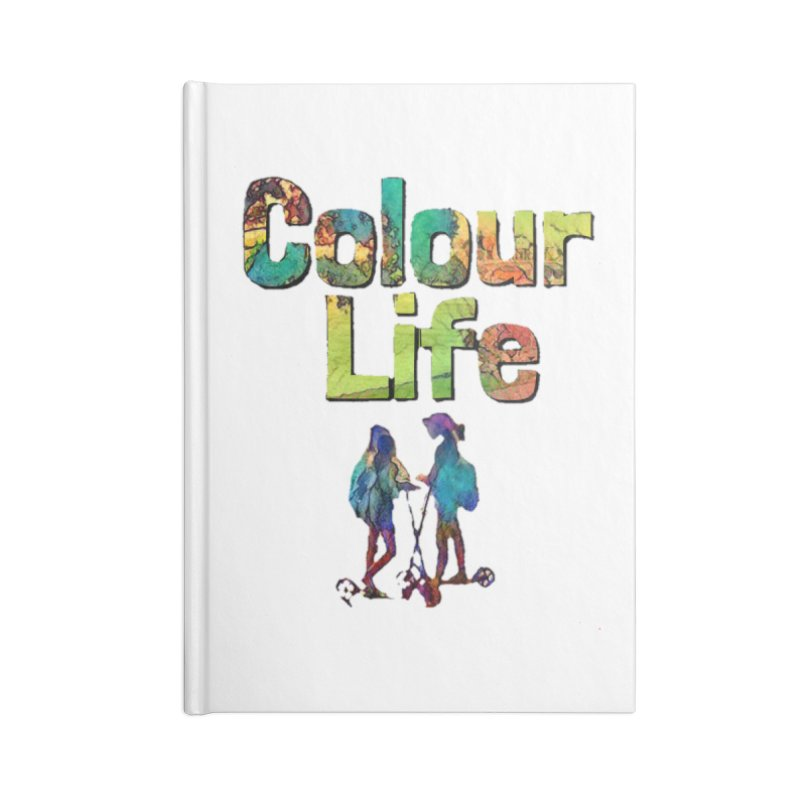 Colour Life Accessories Lined Journal Notebook by Artdrips's Artist Shop