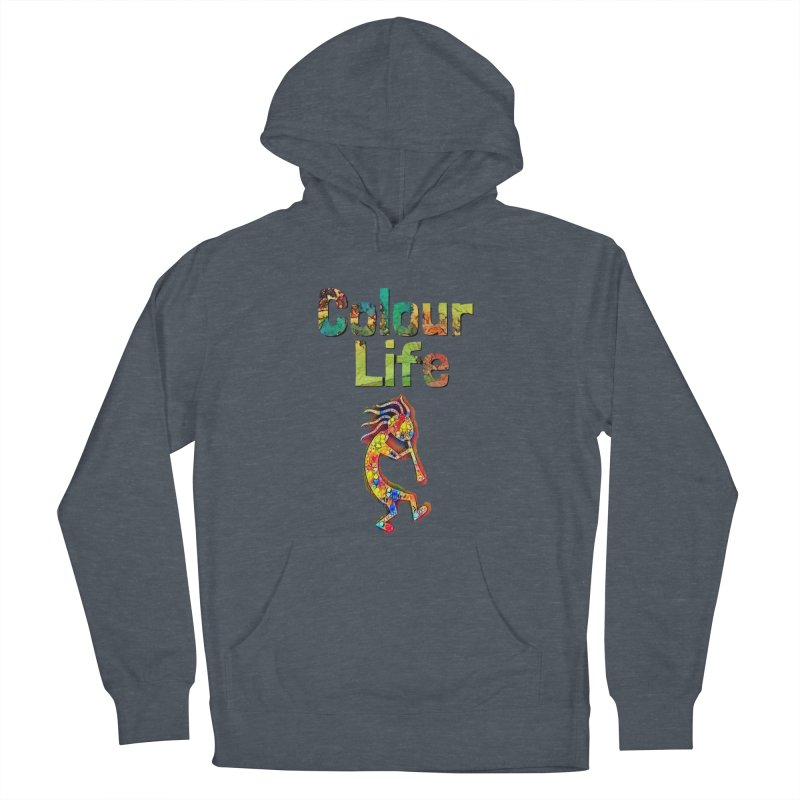 Colour Life with Music Women's French Terry Pullover Hoody by Artdrips's Artist Shop
