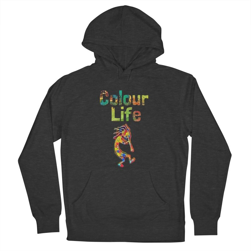 Colour Life with Music Men's French Terry Pullover Hoody by Artdrips's Artist Shop