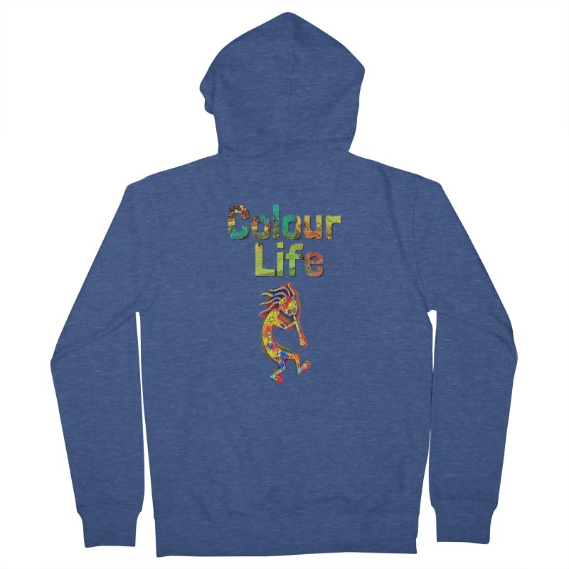 Colour Life with Music Women's French Terry Zip-Up Hoody by Artdrips's Artist Shop