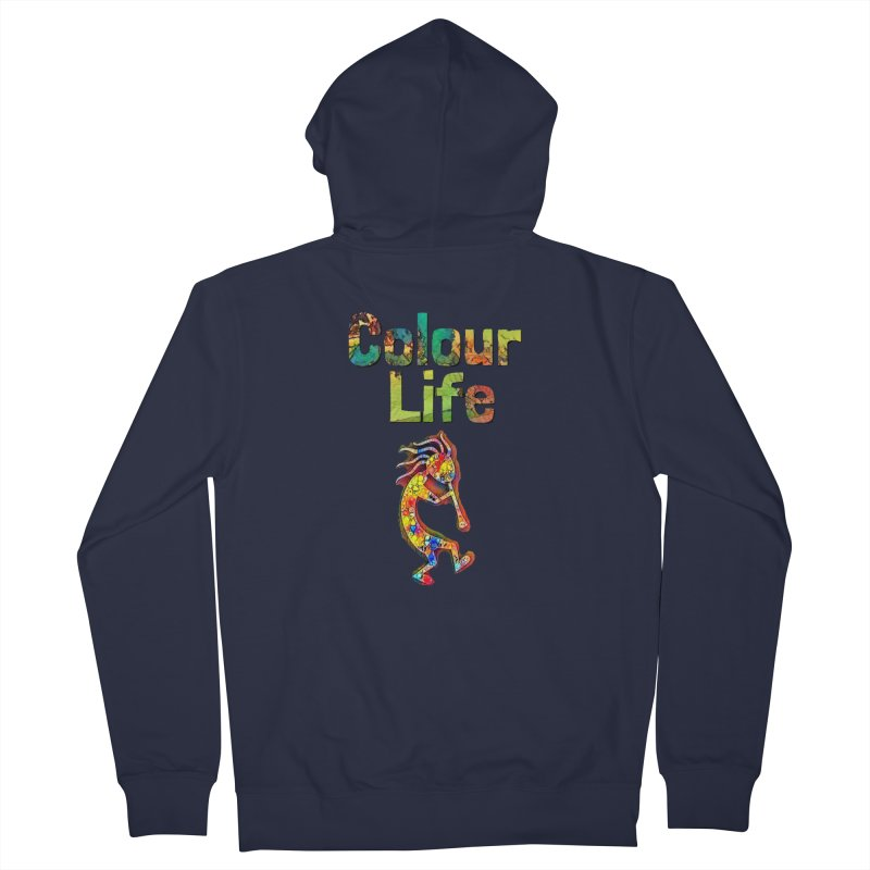 Colour Life with Music Men's French Terry Zip-Up Hoody by Artdrips's Artist Shop