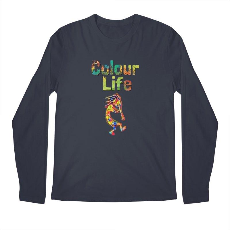 Colour Life with Music Men's Regular Longsleeve T-Shirt by Artdrips's Artist Shop