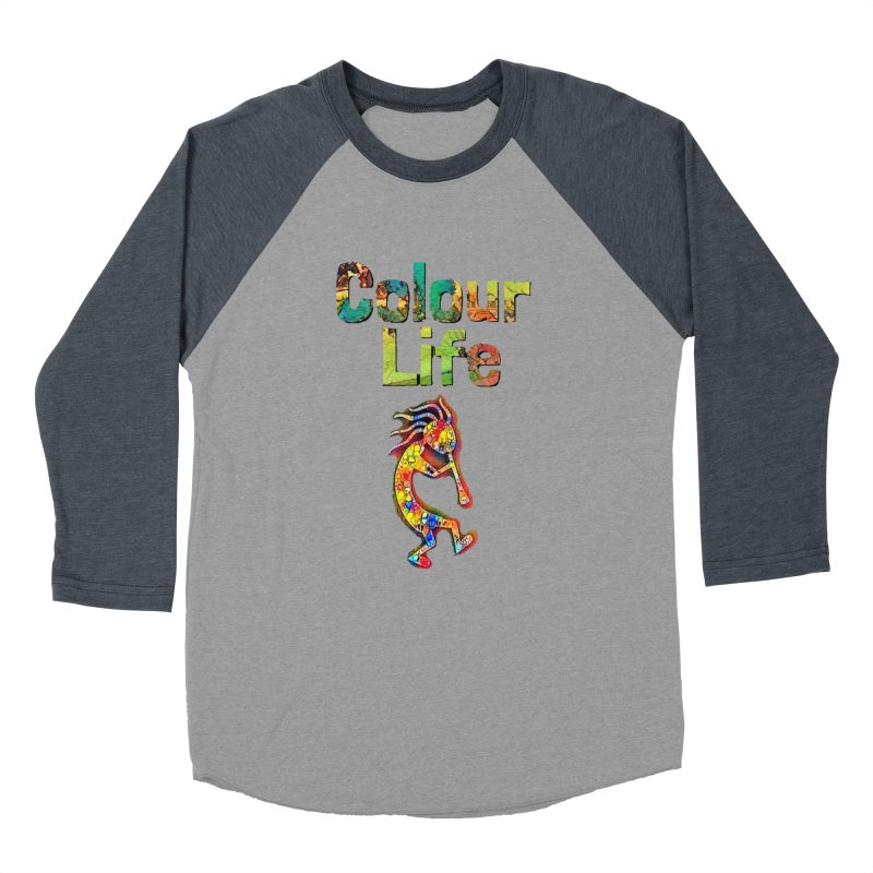 Colour Life with Music Men's Baseball Triblend Longsleeve T-Shirt by Artdrips's Artist Shop